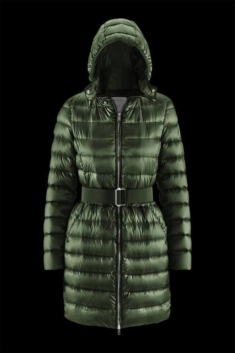 Woman's down jacket with belt