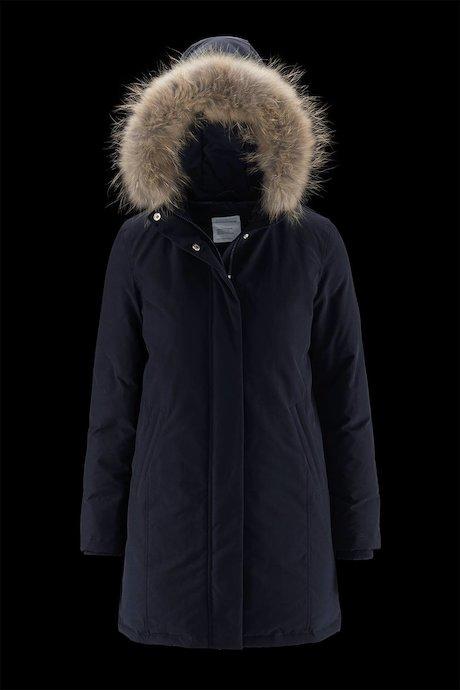 Woman's long down jacket