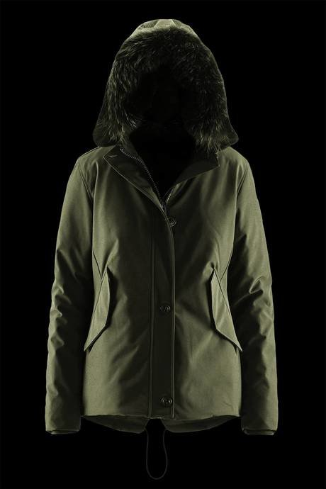 Short Softshell Parka Coloured Fur