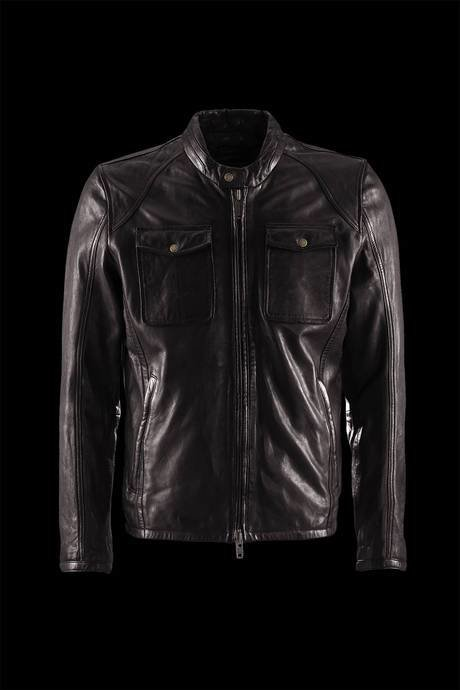 JACKET MAN LEATHER ERGONOMIC CUT COLLAR LIST