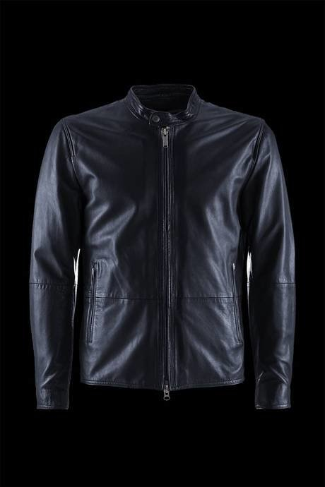 JACKET MAN LEATHER COMBINED WITH COTTON JERSEY