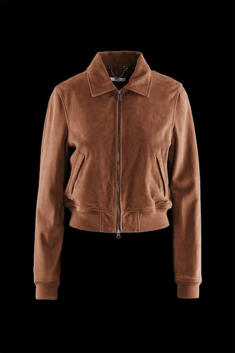 Woman's Leather Bomber Bree