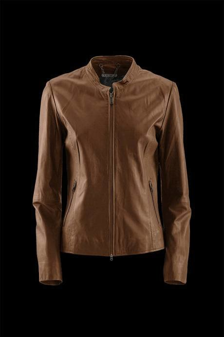 WOMEN'S LEATHER JACKET KOREAN NECK