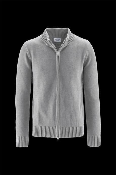 Man's zip up cardigan