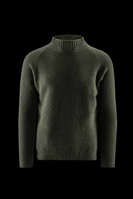 Man's high collar sweater