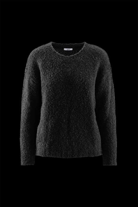 Woman's round neck sweater, blouclé effect