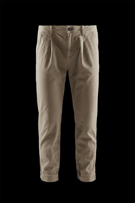 Man's chino trousers with ribbed ankle