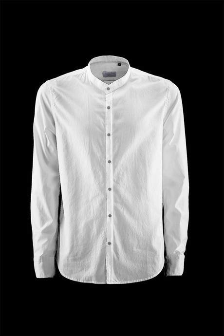 KOREAN NECK LONG SLEEVE SHIRT