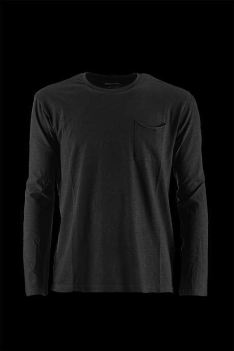 T-SHIRT WITH POCKET NECK LONG SLEEVE SIDE HEART