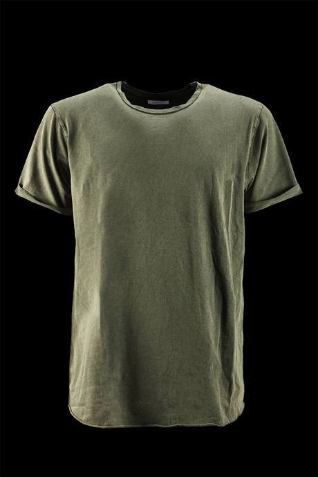 T-SHIRT NECK SHORT SLEEVE WITH LAPEL