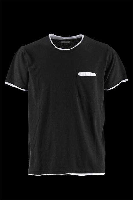 T-SHIRT DOUBLE NECK AND BOTTOM IN JERSEY WHITE