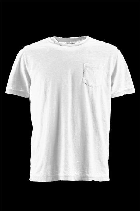 T-SHIRT WITH POCKET NECK SHORT SLEEVE SIDE HEART