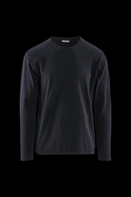 Man's round neck shirt, long sleeve