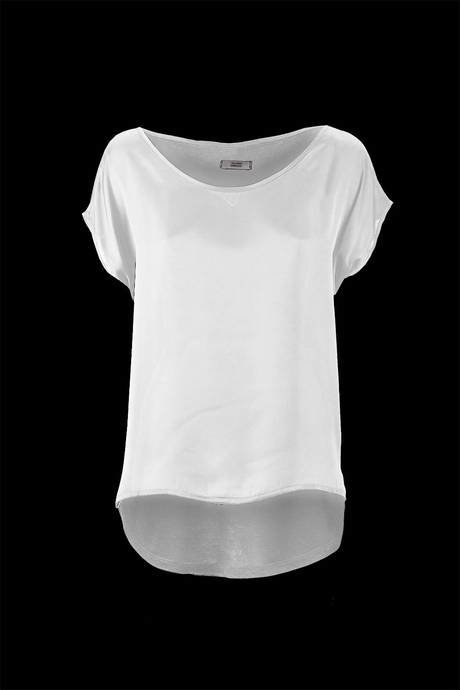 WOMEN'S BLOUSE SATIN AND JERSEY