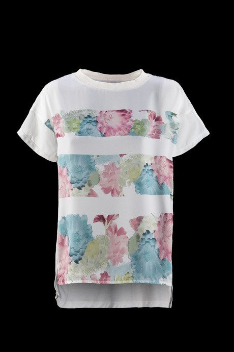 T-SHIRT DONNA STAMPA FLOREALE