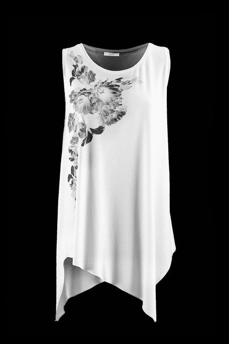 T-SHIRT SLEEVELESS WOMEN'S WIDE AND LONG