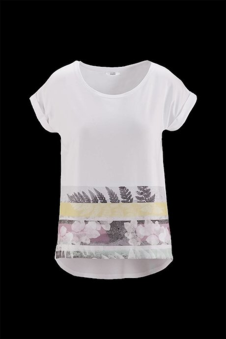 Woman's T-shirt Wide Collar