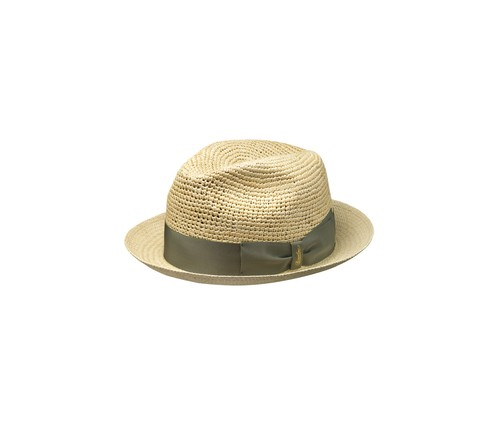 Semi-crochet panama hat narrow brim