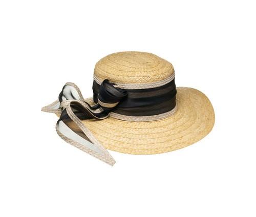Rafia hat, wide brim