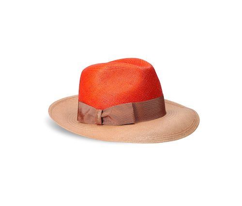 Two-tone wide-brimmed Panama Quito