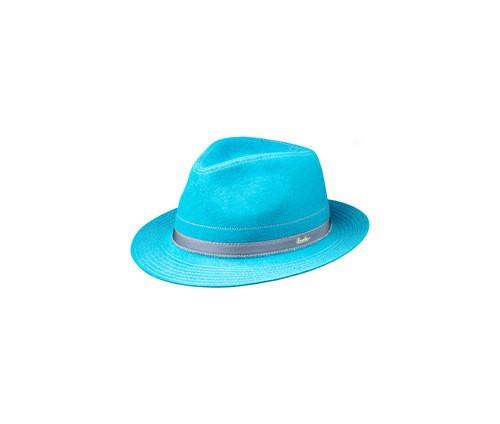 Brushed felt hat with stitching