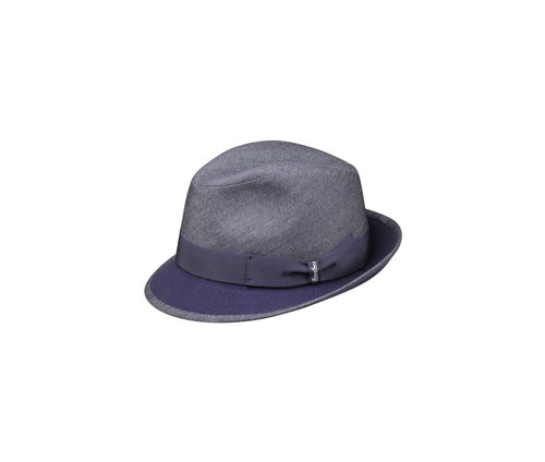 Denim Trilby hat