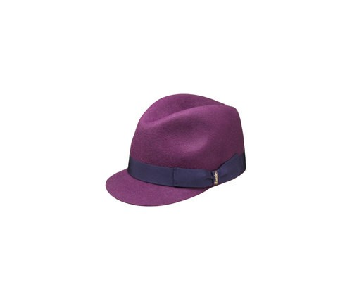Brushed felt baseball cap
