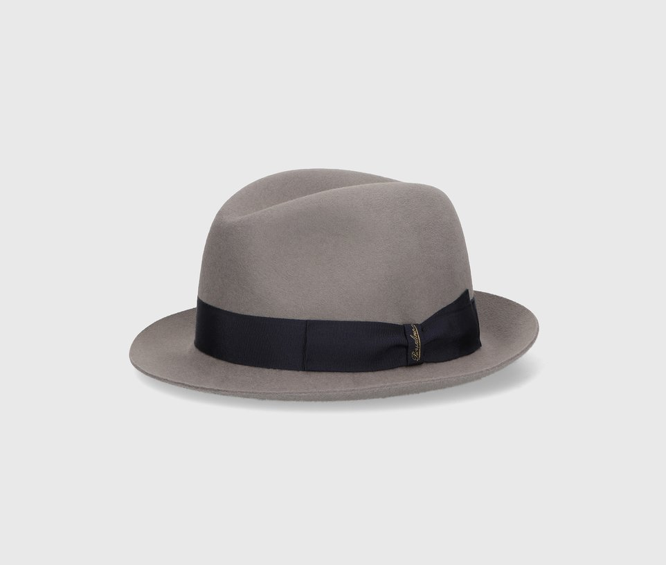 Brushed felt trilby hat