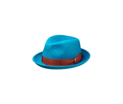Brushed felt hat, narrow brim