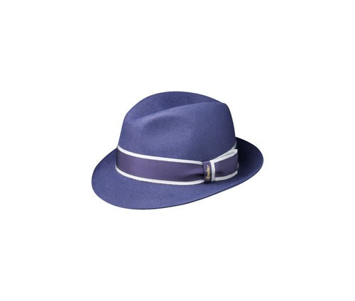 Brushed felt trilby hat