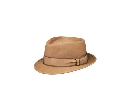Brushed felt Diamante hat