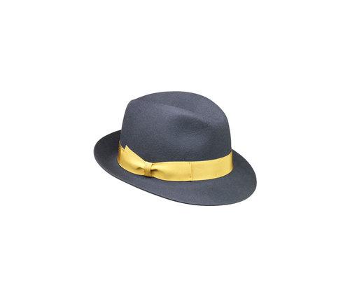 Brushed felt Fedora hat