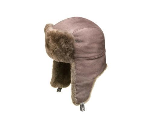 Mink fur aviator hat