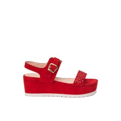 Velvet flatform sandals – Lancetti