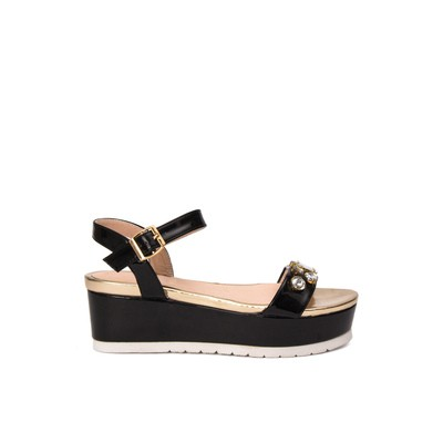 Patent leather flatform sandals – Lancetti