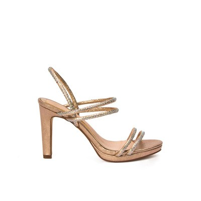 Heeled sandals with rhinestones – Lancetti