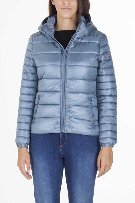 Woman's down jacket with hood