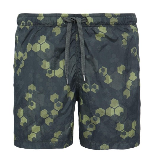 PRINTED NYLON SWIM SHORTS