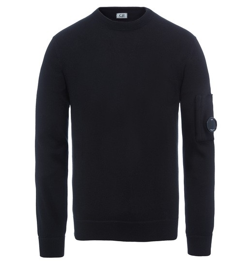 SEA ISLAND COTTON CREW NECK LENS SWEATER