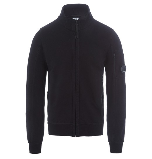 DIAGONAL FLEECE  ZIP TRACK TOP