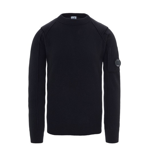 LAMBSWOOL LENS CREW NECK SWEATER
