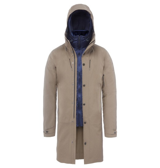 P-LASTIC LONG HOODED TRENCH JACKET
