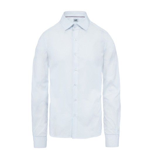 STRETCH POPLIN OPEN COLLAR SHIRT