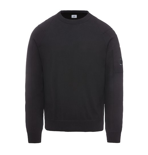 SEA ISLAND COTTON LENS CREW NECK SWEATER