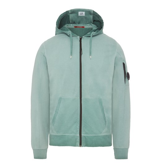 RE-COLOUR LIGHT FLEECE LENS FULL ZIP HOODED SWEATSHIRT