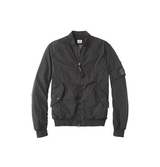 NYCRA BOMBER JACKET WITH OVER-DYED POLAR FLEECE LINING