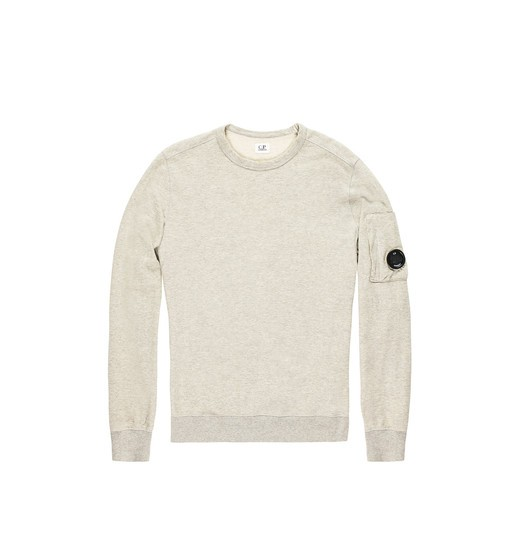 LIGHTWEIGHT COTTON FLEECE LENS CREWNECK