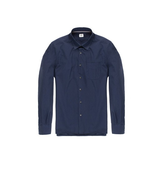 REGULAR FIT GARMENT DYED POPLIN SHIRT