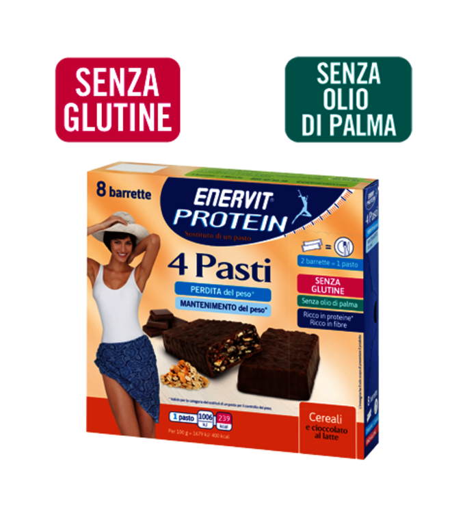 ENERVIT PROTEIN 4 PASTI CEREALI E CIOCCOLATO - cereals and milk chocolate