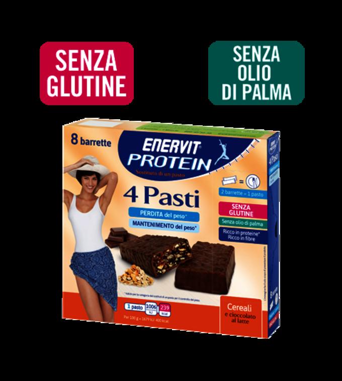 ENERVIT PROTEIN 4 PASTI CEREALI E CIOCCOLATO - Cereali E Cioccolato Al Latte
